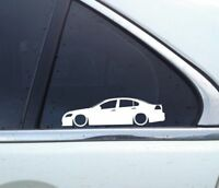 2X Lowered car silhouette stickers - for Holden Commodore ( VE ) SS