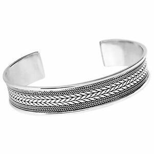 Men's Solid 925 Sterling Silver Bangle Bracelet