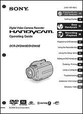 Sony DCR-DVD505E DCR-DVD905E Operation Guide Manual