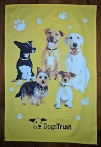 Happy Dogs cotton tea towel by The Dogs Trust