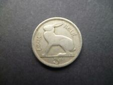 1942 EIRE (IRELAND REPUBLIC) IRISH THREEPENCE COIN COPPER-NICKEL FEATURES A HARE