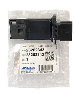 New OEM GM ACDelco Mass Air Flow Sensor Module MAF 23262343  New In OEM Package