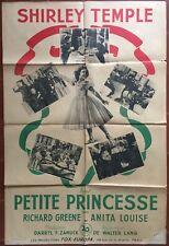 Affiche PETITE PRINCESSE Little Princess SHIRLEY TEMPLE Richard Greene 80x120cm