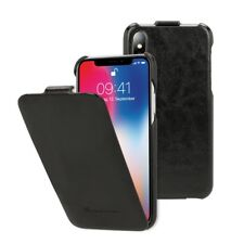 NALIA Klapphülle für Apple iPhone X XS, Leder Flip cover Rundum Schutz case Etui