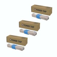 Replacement Compatible OKI Data C332dn Toner (3 Pack, CMY)