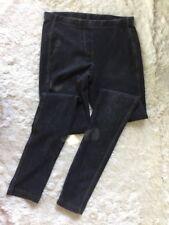 Topshop Women Size 0 Black Washed Denim Leggings Jegging