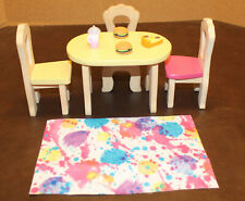 🪑KidKraft Wood Doll House Furniture Kitchen Table &  3 Chairs🪑