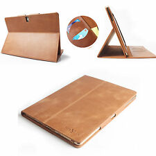 Flip Real Genuine Leather Cover Smart Case Skin For Apple iPad 2 3 4 Magnetic