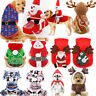 Christmas Pet Dog Cat Puppy Costume Santa Elk Hoodie Hooded Jacket Coat Clothes