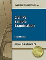 Civil PE Sample Examination Paperback Michael R. Lindeburg