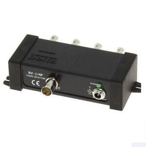 Sdoppiatore Splitter Video BNC 1 IN - 4 OUT - analogico