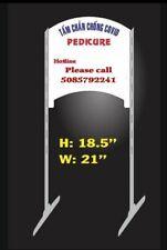 PEDICURE STATION Flexiglass for pedicure station