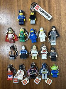 Lego Keychain Lot 17 Star Wars Potter Batman Space Various Conditions