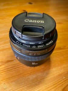 Canon EF 50mm F/1.4 USM lens. Good Condition. With UV Glass.