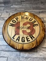 Guinness hop house 13  round plaque wooden sign man cave shed bar pub 14 inch