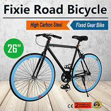 "26"" Zoll Single speed Fixie Fahrrad Bike Fixed Gear Retro Unisex Flip Flop"