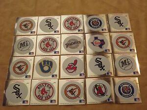 VINTAGE BOSTON RED SOX PLUS 20  1991 FLEER MLB BASEBALL LOGO STICKERS