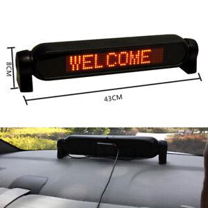 12V Auto Dash Scrolling LED Light Panel Display Editable Advertise Window Sign