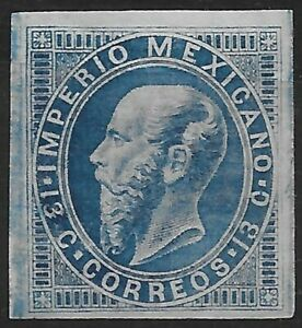 Mexico 1866 Emperor Maximilian 13c Imperf MNH Stamp Free Shipping