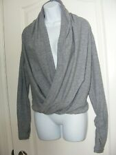 GIRLS SIZE 12 IVIVVA BY LULULEMON FOURS A CHARM WRAP CARDIGAN SHRUG GRAY BNWOT