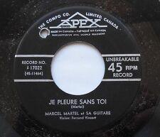 MARCEL MARTEL Adieu jeunesse Ex->NM- CANADA QUEBEC ORIG 1950 COUNTRY APEX 45
