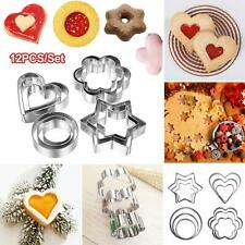CUTE HEART/FLOWER/STAR FONDANT CAKE COOKIE MOLD CUTTER DECORATING TOOLS 12PCS