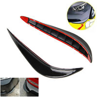 Pair Car Bumper Corner Side Lip Skirt Scratch Protector Spoiler Rubber Strip