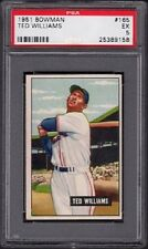 1951 Ted Williams Bowman Baseball #165 PSA Graded 5 Excellent (EX)