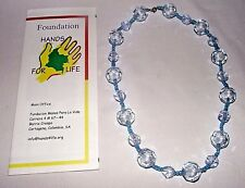 Necklace Turquoise Clear Beads Handcraft Deaf Colombia South America Crafted