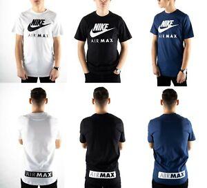 Nike Mens T Shirt Air Max TShirt Short Sleeve Crew Tops Soft Tee Shirts T-Shirt