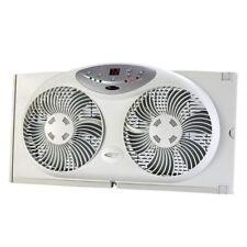 "Bionaire Reversible 9"" Dual Window Fan Program Digital Thermostat With Remote"
