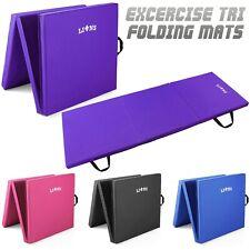 Tri Folding Exercise Thick Mat Gymnastic Training Workout Non Slip Yoga Gym