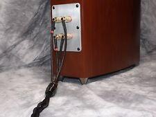 Maze Audio Ref4 Braided Hand Made Speaker Cables 9 Gauge 8ft Black Bi-Wire