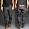 Nudie Mens Regular Tapered Fit Raw Denim Jeans   Sharp Bengt Dry Dirt Organic