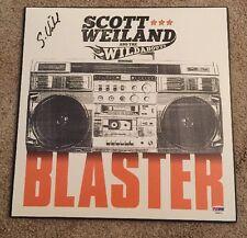 Scott Weiland & the Wildabouts SIGNED STP PSA #Y90571 Vinyl Album Auto