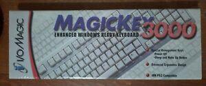I/O Magic MagicKey 3000 Computer Keyboard DR-MK004 IBM/PS/2 compatible NIB