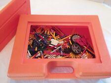 Large Set 4+ lbs. K'nex Building Pieces orange carrying case, wheels 400+ pieces