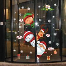 Cute Large Christmas Snowman Snowflake Santa Wall Decal PVC Window Sticker Decor