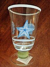 NWT! Set of 2 Pflatzgraff Beachcomber (Retired Pattern) Footed Iced Tea Glasses