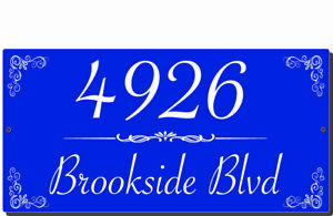 18 X 6 PERSONALIZED HOUSE NUMBER ADDRESS PLATE ALUMINUM SIGN DECOR PLAQUE