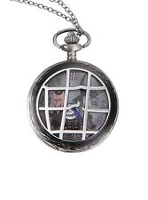 Disney The Nightmare Before Christmas Lock Shock Barrel Pocket Watch Necklace