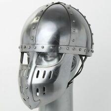18GA Medieval Viking Mask Helmet Nasal Helmet Replica Halloween Costume Q480