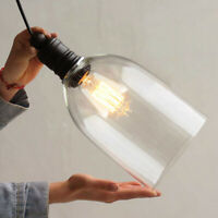 Vintage Chandelier Pendant Light Cafe Loft Glass Ceiling Hanging Lamp Fixture