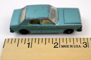 Vintage Matchbox #53 Ford Zodiac Mk IV - Light Metallic Blue - Lesney