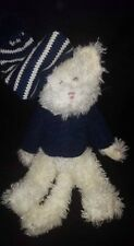 Nwt Ret Boyd's Bears Plush Kitty Cat Taylor Purrski Navy Sw​eater & Stocking Cap