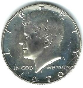 1970 San Francisco Proof Silver Strike JFK Half Dollar Coin!