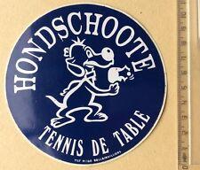 Autocollant Sport Hondschoote Tennis De Table Chien Année 70/80