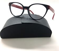 7d48b77259 PRADA Shiny Brown Red VPR 01T-F DHO-1O1 Eyeglasses Frame 53-18