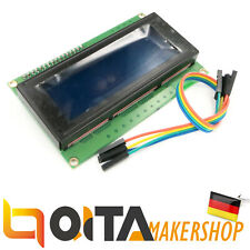 Character 20x4 LCD Display Module 2004 White on Blue 5V I2C Interface HD44780
