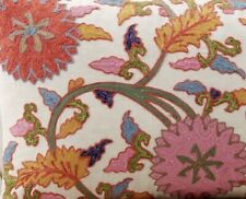 NWT Pottery Barn Willow Embroidered Floral Square Pillow Cover